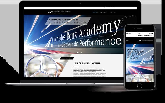 Site Internet Mercedes-Benz Academy