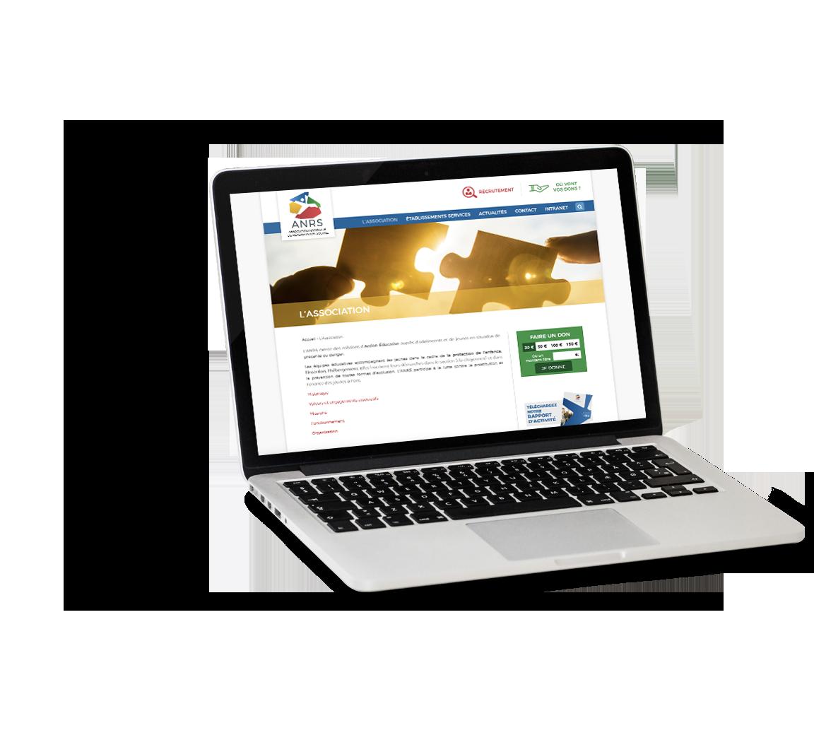 Site internet de l'ANRS - Association de Réadaptation Sociale