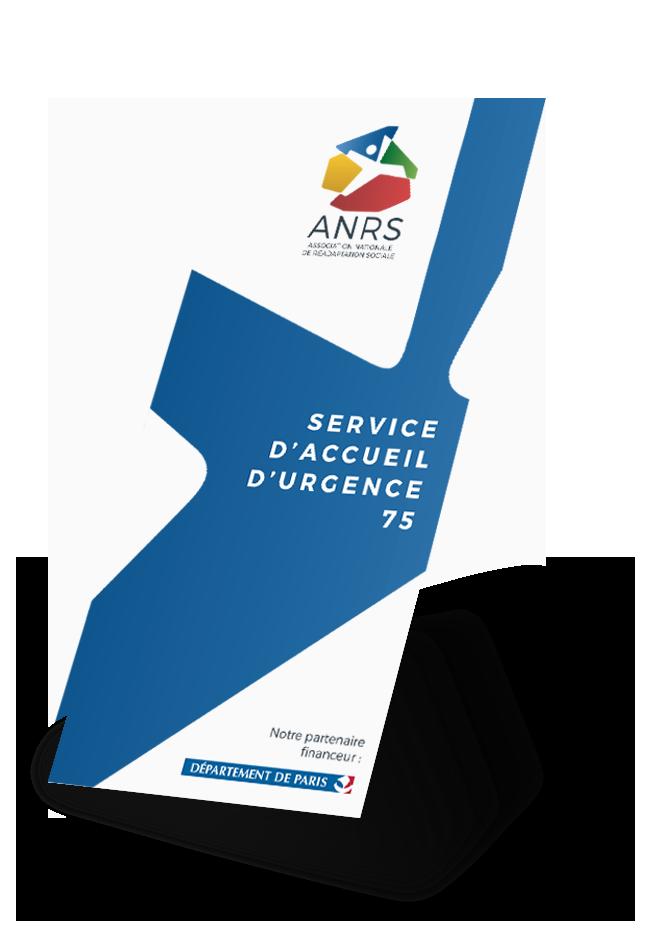 Dépliant de la structure SEA75 de l'ANRS (Association Nationale de Réadaptation Sociale)